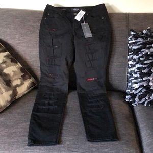 Torrid black destructed skinny jeans size 10 NWT